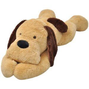 Cão de peluche castanho 80 cm - PORTES GRÁTIS