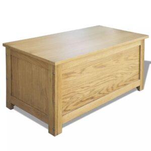 Caixa de arrumação 90x45x45 cm madeira carvalho maciça  - PORTES GRÁTIS