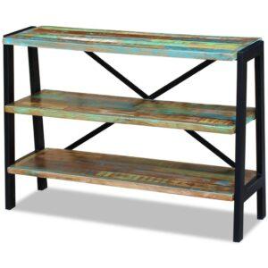 Aparador com 3 prateleiras, madeira reciclada sólida - PORTES GRÁTIS