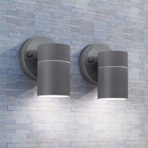 Candeeiros parede iluminação inf. p/ exterior 2 pcs aço inox. - PORTES GRÁTIS