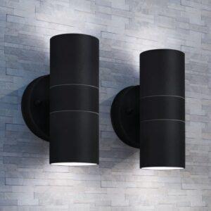 Candeeiros parede iluminação sup/inf exterior 2 pcs aço inox. - PORTES GRÁTIS