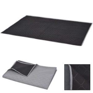 Toalha de piquenique cinzento e preto 150x200 cm - PORTES GRÁTIS