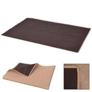 Toalha de piquenique bege e castanho 150x200 cm - PORTES GRÁTIS