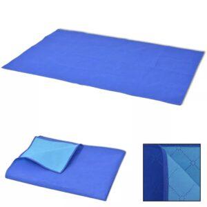 Toalha de piquenique azul e azul claro 100x150 cm - PORTES GRÁTIS
