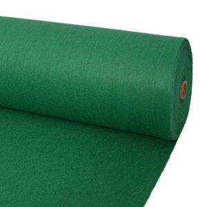 Carpete liso para eventos 1x12 m verde - PORTES GRÁTIS