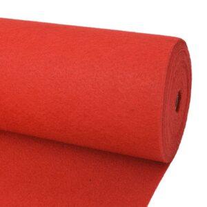 Carpete lisa para eventos 1x24 m vermelho - PORTES GRÁTIS