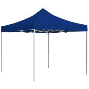 Tenda dobrável profissional para festas alumínio 3x3m azul - PORTES GRÁTIS