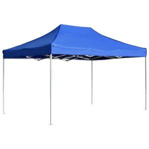 Tenda dobrável profissional para festas alumínio 4,5x3m azul - PORTES GRÁTIS