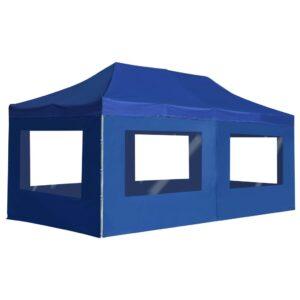 Tenda dobrável profissional com paredes alumínio 6x3m azul - PORTES GRÁTIS