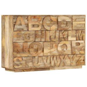 Armário c/ alfabeto e 6 gavetas 120x35x79 cm mangueira maciça - PORTES GRÁTIS