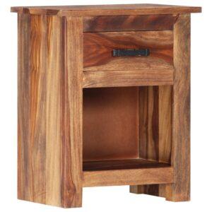 Mesa-de-cabeceira 40x30x50 cm madeira de sheesham maciça - PORTES GRÁTIS
