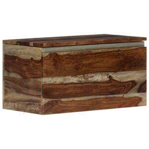 Arca de arrumação 30x30x57 cm madeira de sheesham maciça - PORTES GRÁTIS