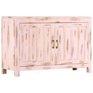 Aparador 110x35x70 cm madeira de mangueira maciça rosa-claro - PORTES GRÁTIS