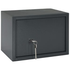 Cofre mecânico 35x25x25 cm aço cinzento-escuro  - PORTES GRÁTIS
