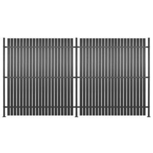 Painel de vedação 2 pcs alumínio 360x180 cm antracite - PORTES GRÁTIS