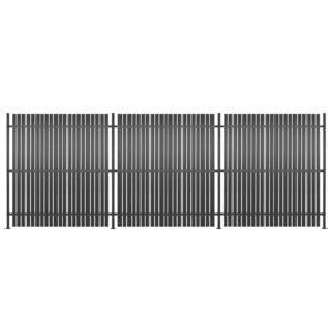 Painel de vedação 3 pcs alumínio 540x180 cm antracite - PORTES GRÁTIS