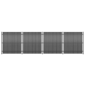 Painel de vedação 4 pcs alumínio 720x180 cm antracite - PORTES GRÁTIS