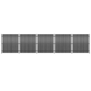 Painel de vedação 5 pcs alumínio 900x180 cm antracite - PORTES GRÁTIS
