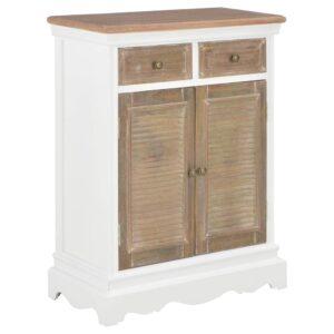 Aparador 60x30x80 cm madeira maciça branco - PORTES GRÁTIS