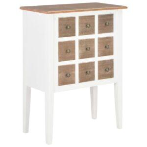 Aparador 54x30x80 cm madeira maciça branco - PORTES GRÁTIS