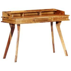 Secretária 115x50x85 cm madeira de sheesham maciça  - PORTES GRÁTIS