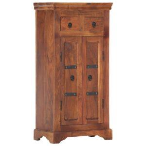 Aparador 50x30x100 cm madeira de acácia maciça - PORTES GRÁTIS