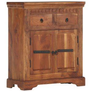 Aparador 63x30x75 cm madeira de acácia maciça - PORTES GRÁTIS