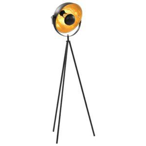 Candeeiro de pé alto 31 cm E27 preto e dourado - PORTES GRÁTIS