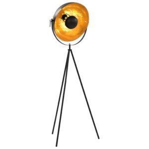 Candeeiro de pé alto 41 cm E27 preto e dourado - PORTES GRÁTIS