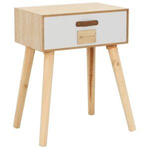 Mesa de cabeceira com uma gaveta 44x30x58,5 cm pinho maciço - PORTES GRÁTIS