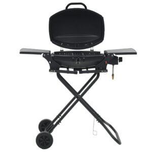 Grelhador/barbecue a gás portátil c/ zona cozinhar preto - PORTES GRÁTIS