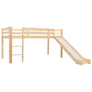 Estrutura de cama infantil c/ escorrega e escada pinho 97x208cm - PORTES GRÁTIS