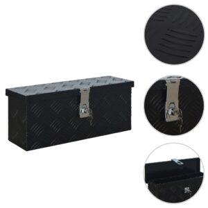 Caixa de alumínio 485x140x200 mm preto - PORTES GRÁTIS
