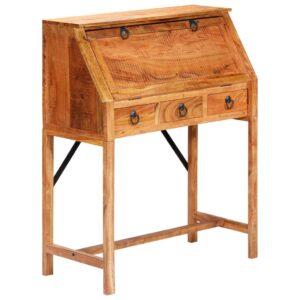 Secretária 90x40x107 cm madeira de acácia maciça - PORTES GRÁTIS