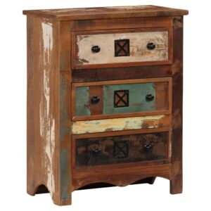 Armário de gavetas 60x30x75 cm madeira recuperada maciça - PORTES GRÁTIS