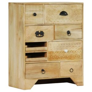 Armário de gavetas 60x30x75 cm madeira de mangueira maciça - PORTES GRÁTIS