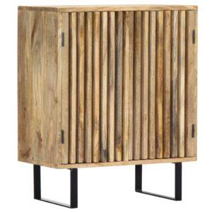 Aparador 60x35x75 cm madeira de mangueira maciça - PORTES GRÁTIS