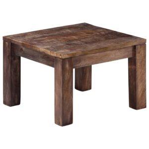 Mesa de centro 50x50x35 cm madeira de mangueira maciça  - PORTES GRÁTIS