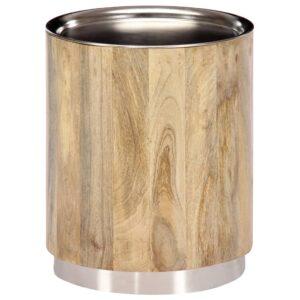 Mesa de centro 38x45 cm madeira de mangueira maciça - PORTES GRÁTIS
