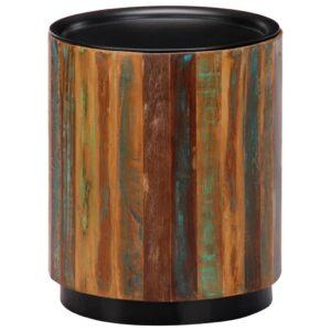 Mesa de centro 38x45 cm madeira recuperada maciça - PORTES GRÁTIS