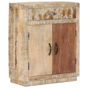 Aparador 60x30x75 cm madeira de mangueira maciça - PORTES GRÁTIS