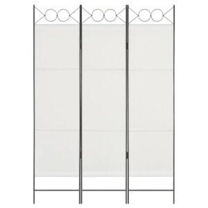 Divisória de quarto com 3 painéis 120x180 cm branco - PORTES GRÁTIS