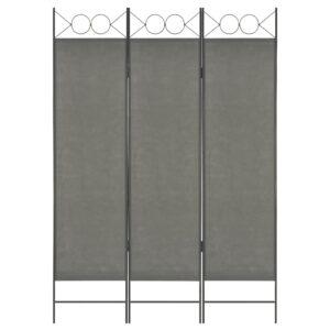 Divisória de quarto com 3 painéis 120x180 cm antracite - PORTES GRÁTIS