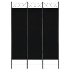 Divisória de quarto com 3 painéis 120x180 cm preto - PORTES GRÁTIS