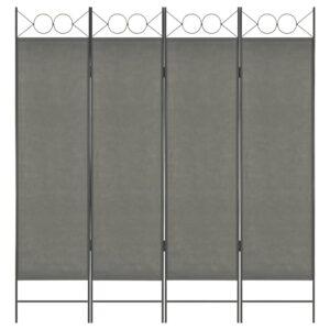 Divisória de quarto com 4 painéis 160x180 cm antracite - PORTES GRÁTIS