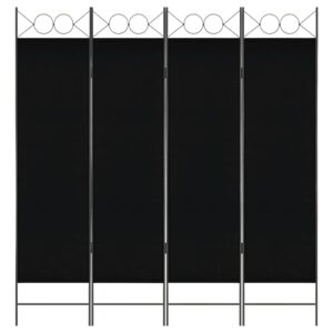 Divisória de quarto com 4 painéis 160x180 cm preto - PORTES GRÁTIS