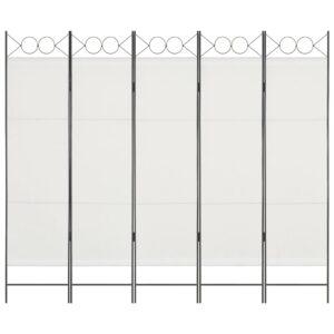 Divisória de quarto com 5 painéis 200x180 cm branco - PORTES GRÁTIS