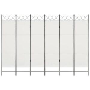Divisória de quarto com 6 painéis 240x180 cm branco - PORTES GRÁTIS
