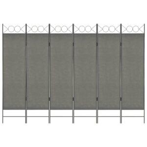 Divisória de quarto com 6 painéis 240x180 cm antracite - PORTES GRÁTIS