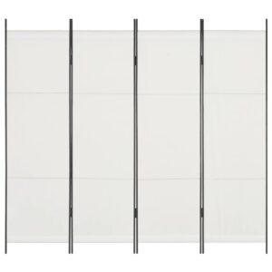 Divisória de quarto com 4 painéis 200x180 cm branco - PORTES GRÁTIS